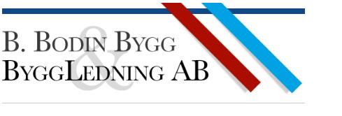 B. Bodins Bygg & Byggledning AB logo