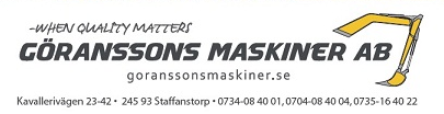Göranssons Maskiner i Bjärred AB logo