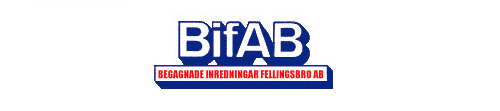 BIFAB Begagnade Inredningar Fellingsbro Aktiebolag logo