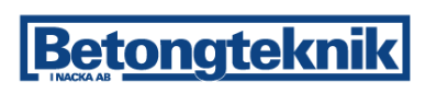 Betongteknik i Nacka Aktiebolag logo