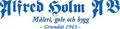Målerifirma Alfred Holm Aktiebolag logo