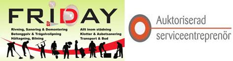 Friday Riv, Städ och Bygg AB logo