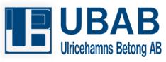 UBAB Ulricehamns Betong AB logo