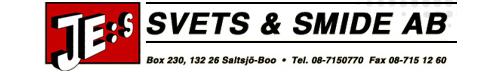 JE:s Svets & Smide AB logo